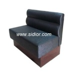 (SD-1011K) Hotel Restaurant Dining Furniture for Wooden Leather Booth Sofa