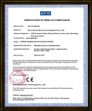 CE certificate for the CNC Router