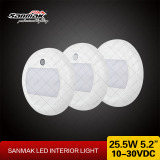 Round Ceiling Lamp Caravan Truck Surface Mounted LED Ceiling Light