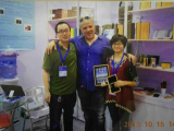 Clients visiting our booth in Canton Fair
