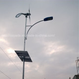 Angel wind turbine with solar panel for street light