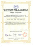 OHSAS18001:2007 OCCUPATIONAL HEALTH and SAFETY MANAGEMENT SYSTEM CERTIFICATE