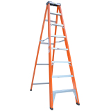 A shape single side insulated folding lightweight frp ladder supplier
