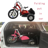 Mobility scooter folding put in car