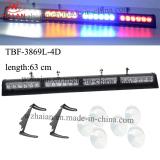 6 Suckers Mount Multi Color LED Windshield Light Bar (TBF-3869L-4D-W/a/B/R)