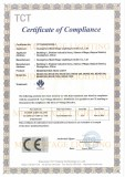 LVD-CE CERTIFICATE OF BEAM MOVING HEAD LIGHT