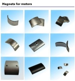Arc shape motor magnets
