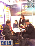 Customer come to our booth in the China Coat Fair during Dec 3-5th