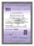 Perfect Laser-ISO certificate