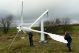 Wind turbine installation without crane