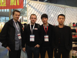 Meet with our customer in trade show