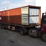 WPC decking loading to container