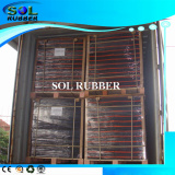 Rubber tile loading