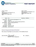 NSF61 Report