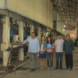 Egypt client coming to our factory negotiating about kraft paper line