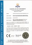 AC and DC Isolator Certificate