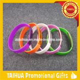 Metal promotion silicone wristband