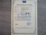 RoHs certificate of LED light