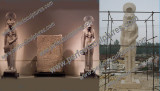 Custom Stone Sculpture in USA (7 meter High and Weight is 25 Tons)