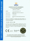 CE CERTIFICATE of TOGGLE SWITCH
