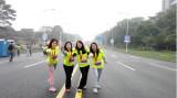 Sales team attending 2016 Dongguan songshanhu Mini Marathon