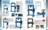 Pneumatic/Hydraulic shop press with Gauge