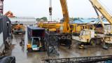 Crawler crane boom shipment