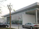 steel structure car exhibition hall with glass curtain