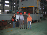 customers visit in factory