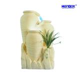 Home & Garden Decoration LED Sandstone Round Jar Water Fountain