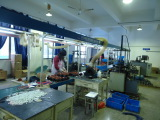 Automatic production line for making stator and rotor