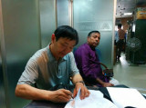 Signing contract woth Bangladesh