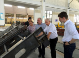Brazil customer acceptance mesh belt continuous furnace