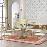 Round Stainless Steel Dining Table for Events
