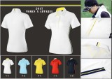 OEM women′s golf T-shirt short sleeve dry fit summer sports shirt for lady