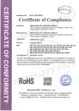 Rohs Certificate of Wash Light
