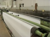 machine weaving fabric