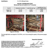 Test Of 4′*3′ HL Shoring Frame
