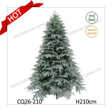 8feet Unlit/Prelit Grand Fir Artificial Christmas Tree with Real-Feel Technology PE+PVC