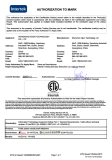 Intertek authorization