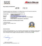 SGS certificate E-paper to Dongguan Taizheng Wire Machine Co.,Ltd