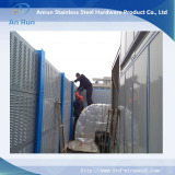 perforated metal panel as nosie barrier for school, highway, rail way and others