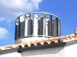 1KW Vertical Axis Wind Turbine Completed System :