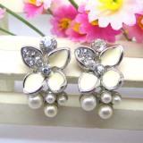Wedding pearl earring