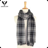 2017 Latest Stripe Grid Double Side Patterned Scarf Wrap Styles