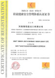 Occupational health and safety management system certification1
