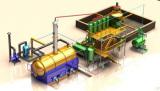Used vehicle oil to diesel refinery distillation machine