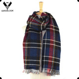 Double Sided Woven Oversized Soft Wrap Plaid Tartan Blanket Scarf