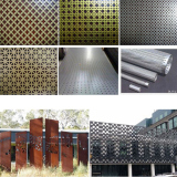 Spray or oxidation perforated metal mesh for wall decoration