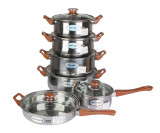 12PCS Stainless Steel Cookware